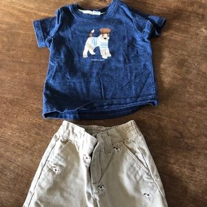 Janie and jack infant short and T-shirt set